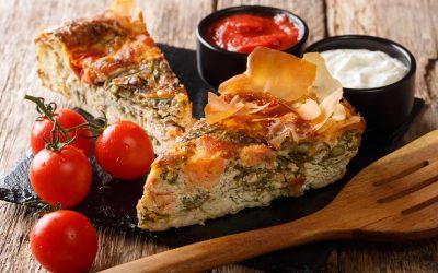 Mediterranean Salmon & Ricotta Pie