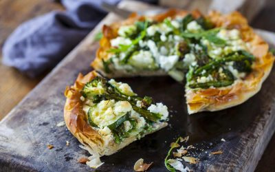 Asparagus, Courgette & Broccoli Tart