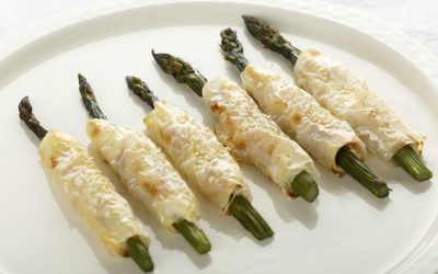 Asparagus rolls with Cream Cheese & Palma Ham