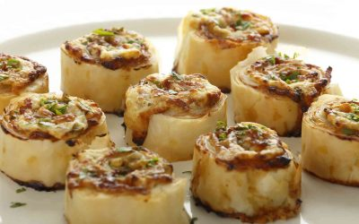 Bacon, Cheese & Chutney Filo Pinwheels