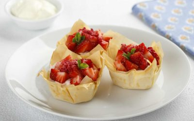 Seasonal Berry Mousse Filo Cups